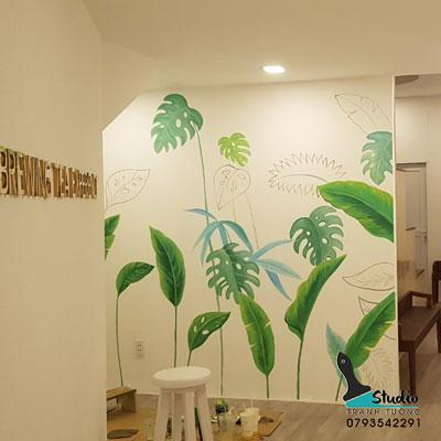 vẽ tranh tường trà sữa - quán cafe - nhà hàng