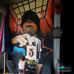 Vẽ Tranh Tường bar beer club Miss beer - studiotranhtuong.com