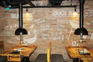 Vẽ Tranh Tường nhà hàng gogi house chuyên nghiệp