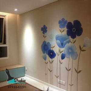 VẼ TRANH TƯỜNG phòng ngủ phòng khách bếp phòng ăn hành lang