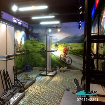 Vẽ TranhTường 3D TẢ THỰC phòng TẬP THỂ DỤC uy tín, chất lượng - studiotranhtuong.com