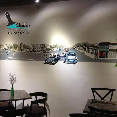 vẽ tranh tường quán cà phê chuyên nghiệp - studiotranhtuong.com