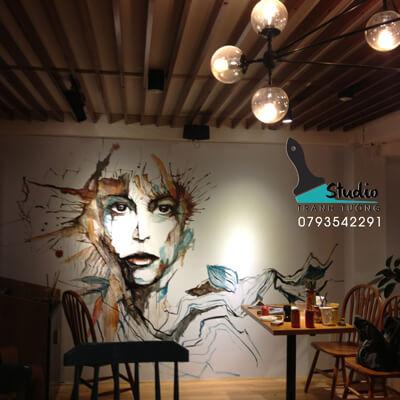 Vẽ Tranh Tường cafe ấn tượng
