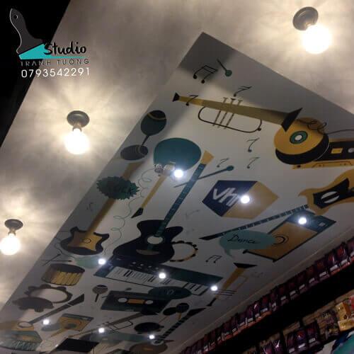 Vẽ Tranh Tường 3D cafe bar