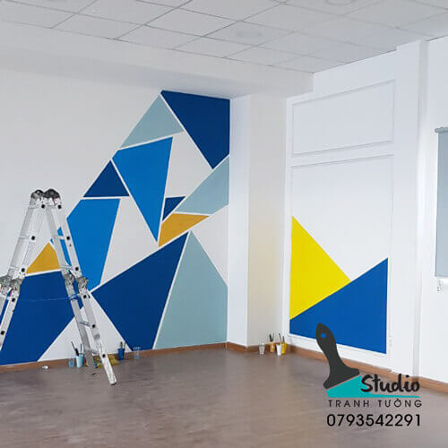 vẽ tranh tường văn phòng công ty bđs thành đạt