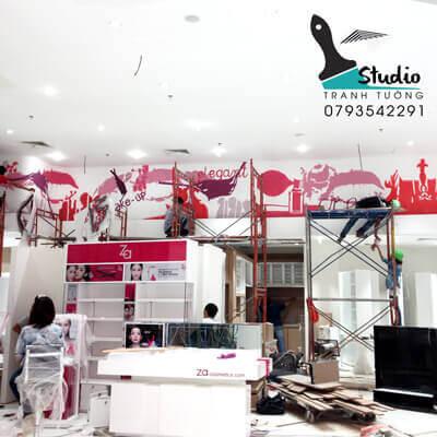 vẽ tranh tường Trung tâm thương mại Robins