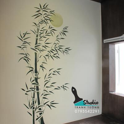 vẽ tranh tường phong cách zen thiền