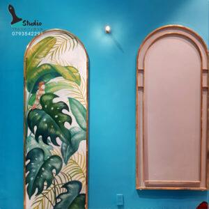 Vẽ tranh tường trà sữa D2 tropical