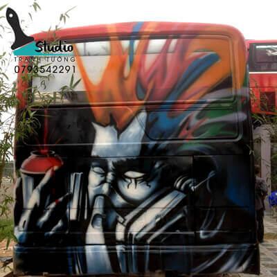 Vẽ Tranh Tường3D PHONG CÁCH GRAFIITI studiotranhtuong.com