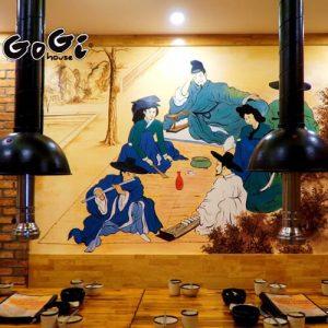 Vẽ Tranh Tường 3D tả thực nhà hàng