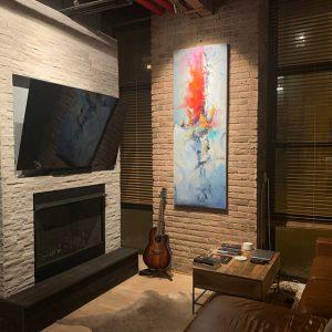 Vẽ Tranh Sơn Dầu trang trí nội thất biệt thự