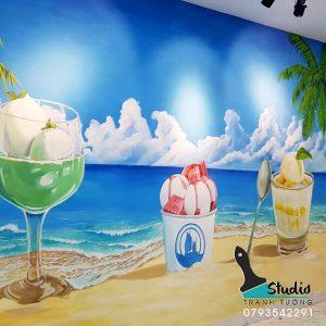 Vẽ tranh tường quán cafe - trà sữa - nhà hàng